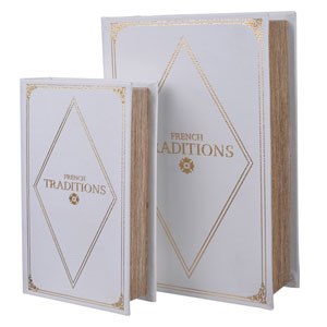White Book Boxes, Set of 2