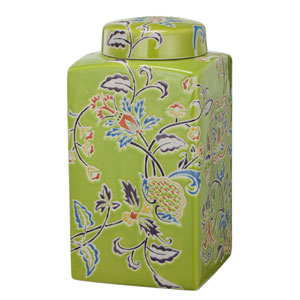 kathy ireland designs Multicolor 10-Inch Square Lidded Jar