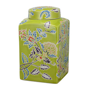 kathy ireland designs Multicolor 8-Inch Square Lidded Jar