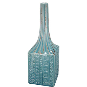 kathy ireland designs Blue Textural Ceramic Vase