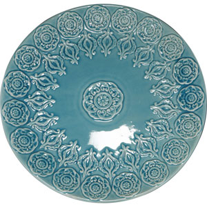 kathy ireland designs Blue Decorative Ceramic Plate