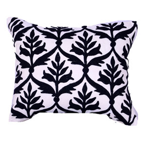 Ivory 16 x 20-Inch Embroidered Pillow