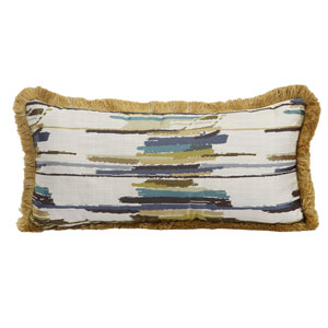 Multicolor 12 x 25-Inch Jacquard Woven Pillow