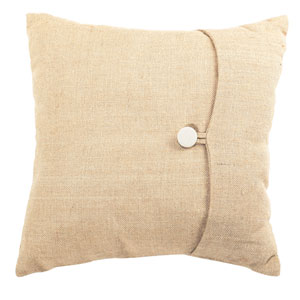 Burlap Natural 18-Inch Pillow
