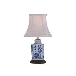 Porcelain Ware One-Light Blue and White Mini Lamp
