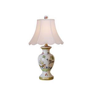 Porcelain Ware One-Light Multicolor Mini Lamp