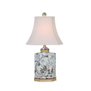 Porcelain Ware One-Light Multicolor Jar Lamp