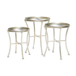 Arlow Silver Accent Table, Set of 3