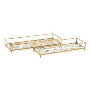 Marigold Gold Decorative Tray, Set of 2