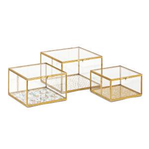 Marigold Gold Decorative Box, Set of 3