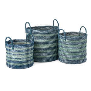 Cottage Blue Basket, Set of 3