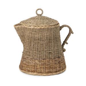 TY Brown Oversized Coffee Pot Basket