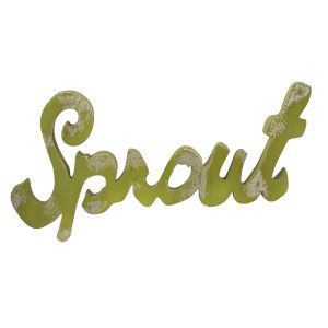 Green Sprout Metal Wall Decor