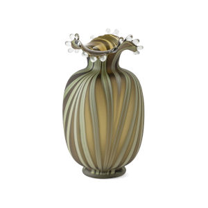 Waverly Green Small Art Glass Vase