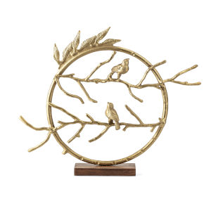 Arielle Gold Bird Sculpture