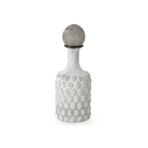 Desposa White and Gray Bottle with Stopper