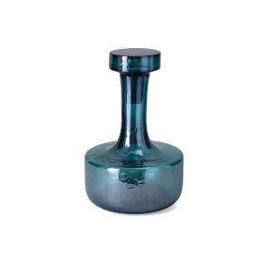 Holmes Blue Decorative Glass Bottle with Stopper