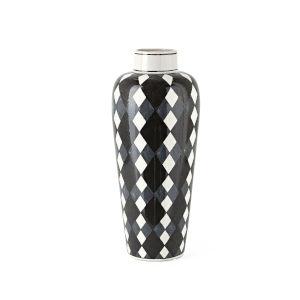 Pga Tour Mulligan Black and White Small Vase