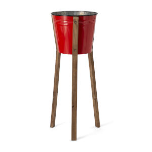 Framstead Red Large Standing Planter