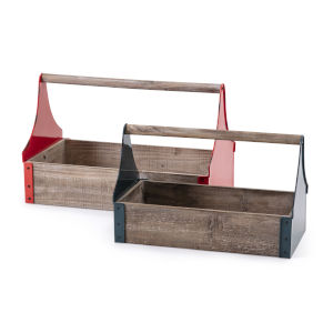 Farmstead Multicolor Caddy, Set of 2