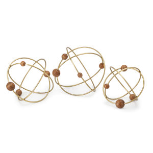 Obitz Gold Deco Ball, Set of 3