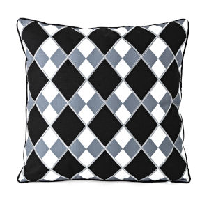 Pga Tour Black and White 18 x 18 Decorative Pillow