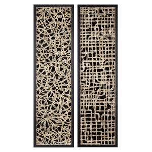 Canyon Brown Handmade Paper Wall Décor, Set of 2