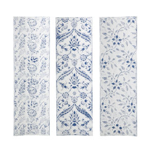 Largosa White and Blue Wall Décor, Set of 3