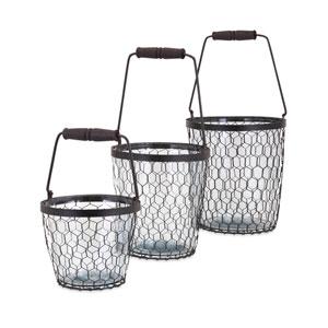 Honey Bee Glass Buckets , Set of 3