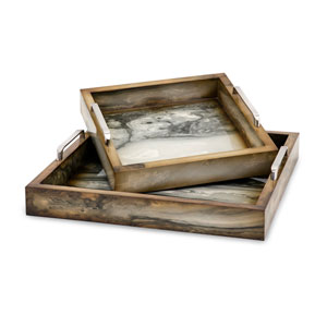 New Frontier Marly Decorative Tray, Set of 2