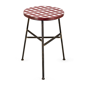 Berry Patch Multicolor Patchwork Stool