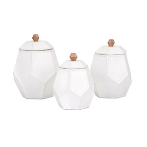 Songbird Geometric Canisters, Set of 3