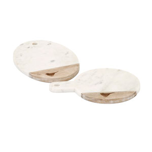 Songbird Marble Cheese Boards, Set of Two