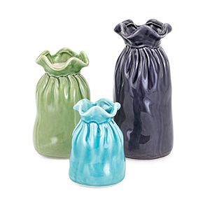 Carter Blue and Green Vases - Set of 3