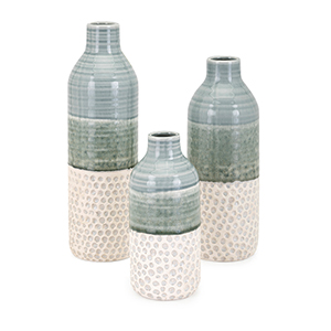 Dahlia Vases - Set of 3 in Green
