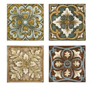 Casa Medallion Tiles, Set of Four