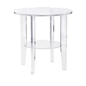 Estelle Acrylic Accent Table