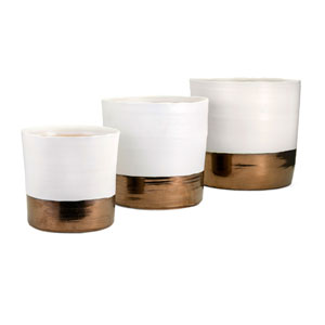 Harlow Ceramic Planters, Set of 3