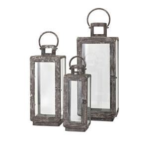 Homestead Metal Lanterns , Set of 3