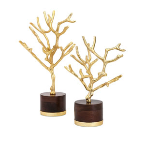 Concepts Eden Trees on Wood Base, Set of 2