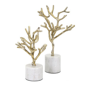 Concepts Eden Trees on Marble Base, Set of 2
