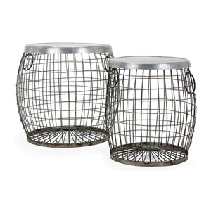 Balaz Wire Tables, Set of 2