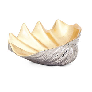 Geneva Ceramic Shell Decorative Bowl