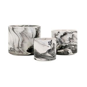 Kai Faux Marble Planters, Set of 3
