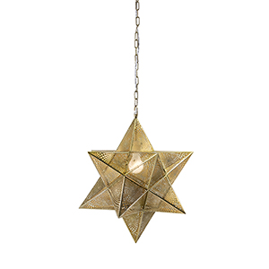 Austin Gold Large Star One-Light Pendant