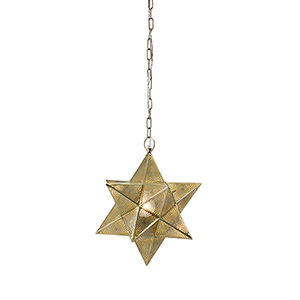 Austin Gold Small Star One-Light Pendant