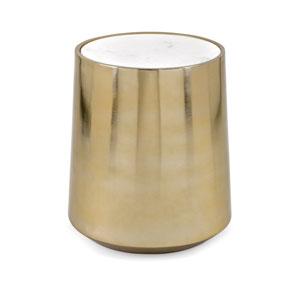 Briar Metal and Marble Drum Table