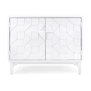 Layla 2-Door Console in White