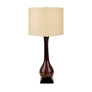 Luna Brown Artesian Glass One-Light Table Lamp