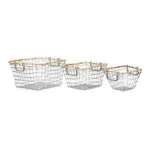 Kelby Silver Basket, Set of 3